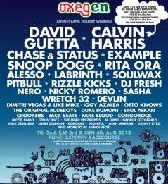 Oxegen 2013 lineup