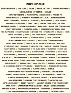 Austin City Limits 2013 lineup