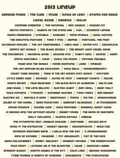 Austin City Limits 2013 lineup