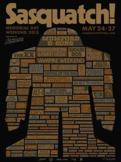 The Sasquatch! Festival 2013 lineup