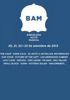 Cartel BAM (Barcelona Acció Musical) 2013