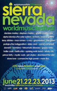 Sierra Nevada World Music Festival 2013 lineup