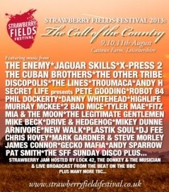 Festival 2013. Lineup, tickets, bands for Strawberry Fields Festival