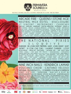 Cartel Primavera Sound 2014