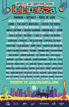 Lollapalooza 2014 lineup