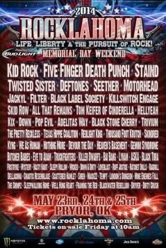 Rocklahoma 2014 lineup