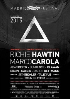 Cartel Madrid Winter Festival 2015