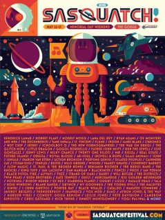 The Sasquatch! Festival 2015 lineup