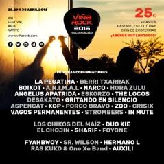 Cartel Viñarock 2016