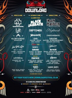 Download Festival 2016 lineup