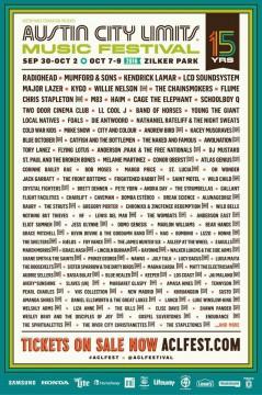 Austin City Limits 2016 lineup