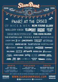 Slam Dunk Festival South 2016