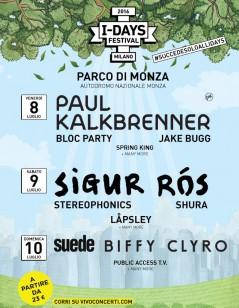 Programma I-Day Festival 2016