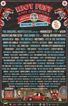 Riot Fest Chicago 2016 lineup