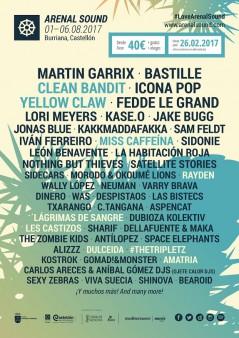 Arenal Sound 2017 lineup