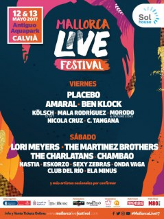 Mallorca Live Festival 2017 lineup