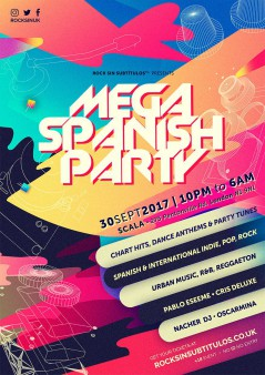 Mega Spanish Party London 2017 lineup