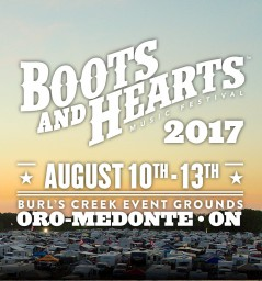 Boots and Hearts Music Festival 2017 lineup