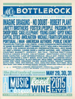Bottle Rock 2015 lineup