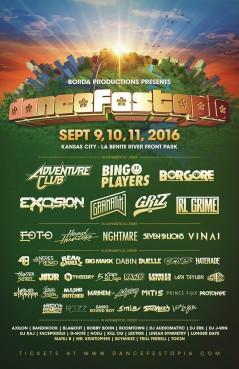 Dancefestopia 2016 lineup
