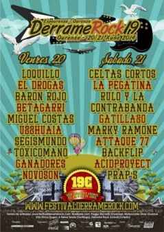 Cartel Derrame Rock 2014