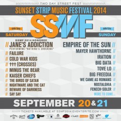 Sunset Strip Music Festival 2014
