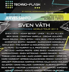 Cartel Techno Flash 2013